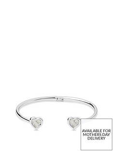 links-of-london-links-of-london-sterling-silver-moonstone-heart-adjustable-bangle