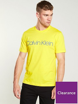 calvin-klein-cotton-front-logo-t-shirt-yellow