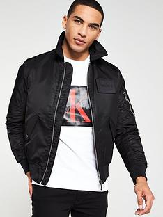 calvin-klein-logo-badge-flight-jacket-black