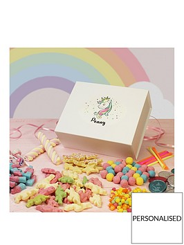 personalised-unicorn-retro-sweets-box