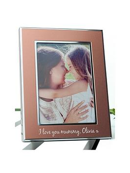 personalised-small-rose-gold-metal-photo-frame