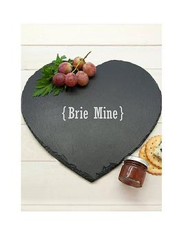 Very Personalised Brie Mine Cheese Slate Picture