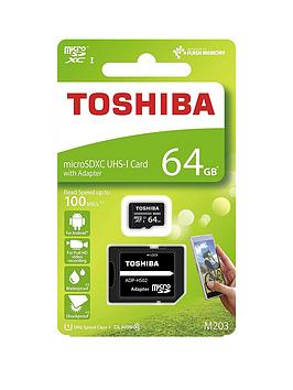 Toshiba Toshiba 64Gb Microsd Memory Card Inc Adapter 100Mb/S Picture