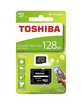 Toshiba Toshiba 128Gb Microsd Memory Card Inc Adapter 100Mb/S Picture
