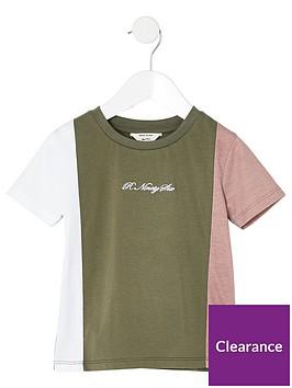 river-island-mini-mini-boys-r96-blocked-t-shirt-khaki