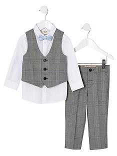 river-island-mini-mini-boys-grey-check-suit-set