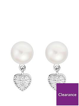 love-pearl-sterling-silver-cubic-zirconia-freshwater-pearl-heart-drop-stud-earrings