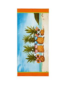 catherine-lansfield-pineapple-sunglasses-100-cotton-beach-towel