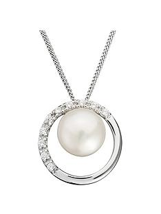 love-pearl-sterling-silver-cubic-zirconia-freshwater-pearl-round-cut-out-pendant-necklace