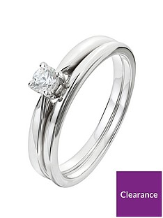 love-diamond-9ct-white-gold-15-point-diamond-solitaire-bridal-set