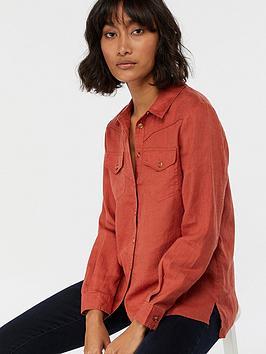 monsoon-lucy-linen-shirt-red-rust
