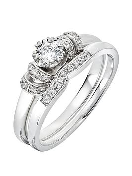 Love DIAMOND Love Diamond 9Ct White Gold 29 Point Diamond Vintage Look  ... Picture