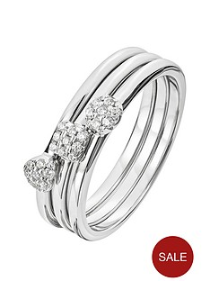 the-love-silver-collection-sterling-silver-cubic-zirconia-set-of-three-cluster-stacking-rings