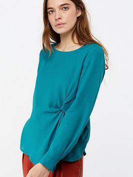 monsoon-salvador-knot-detail-blouse-blue