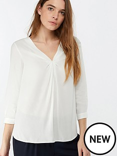monsoon-salvina-twist-front-blouse-ivory