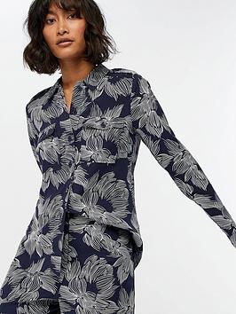 monsoon-chelsea-floral-print-shirt-navy