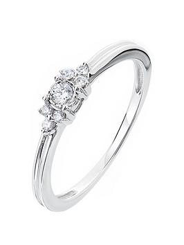 Love DIAMOND Love Diamond 9Ct White Gold 11 Point Diamond Solitaire Ring  ... Picture