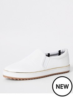 river-island-slip-on-plimsoll-white