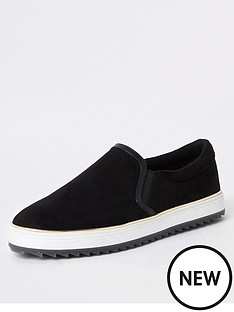 river-island-slip-on-plimsoll-black