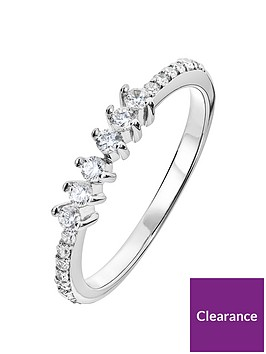 the-love-silver-collection-sterling-silver-cubic-zirconia-6-stone-eternity-ring