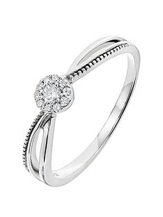 love-diamond-9ct-white-gold-10-point-diamond-cluster-milgrain-shoulder-ring