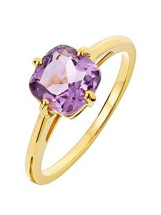 love-gem-9ct-gold-amethyst-solitaire-ring