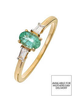 love-gem-9ct-gold-emerald-and-baguette-cut-diamond-set-ring