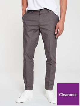 river-island-brown-check-skinny-fit-trousers