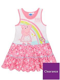 peppa-pig-girlsnbsprainbow-and-hearts-summer-dress-pinkwhite