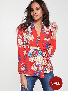 ax-paris-floral-wrap-top-red