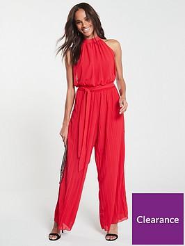 ax-paris-pleated-trouser-jumpsuit-red