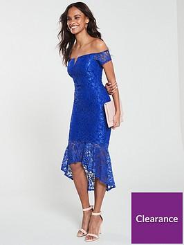 ax-paris-off-shoulder-dip-hem-lace-dress-blue