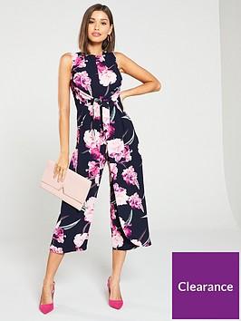 ax-paris-printed-knot-front-culotte-jumpsuit-navy