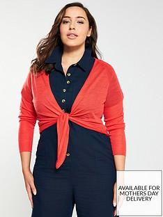 monsoon-curve-lizzie-linen-blend-tie-front-shrug-red