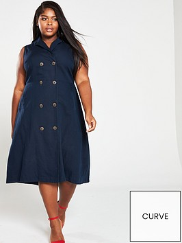 monsoon-curve-ruby-linen-midi-dress-navy