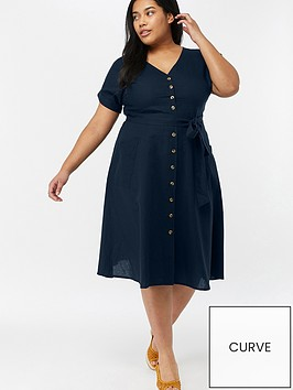 monsoon-curve-louise-linen-pocket-midi-dress-navy