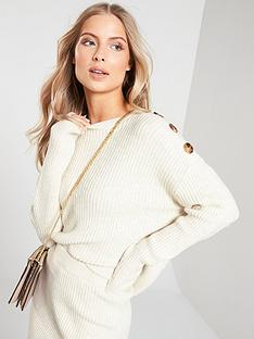 v-by-very-buttoned-shoulder-detail-co-ord-jumper-camel