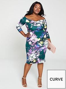 v-by-very-curve-bardotnbsppencil-dress-print