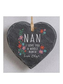 Very Personalised Nan I Love You A Whole Bunch Hanging Slate Picture
