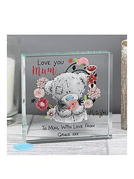 Very Personalised Me To You Mum Large Crystal Token Picture