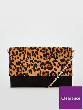 v-by-very-kristina-double-gusset-clutch-bagnbsp-leopard