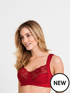 c8753911049 Miss Mary of Sweden Miss Mary Lovely Lace Wide Shoulder Cotton Bra