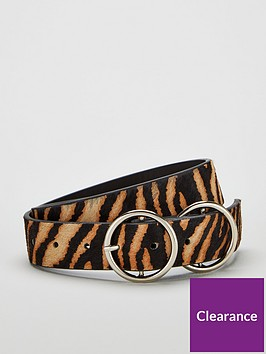 v-by-very-orla-double-circle-detail-leather-belt-zebra