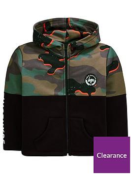 hype-boys-camo-zip-through-hoodie-ndash-black