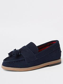 river-island-mini-boys-navy-tassel-loafers