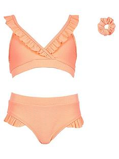 river-island-girls-rib-triangle-frill-tankini-with-scrunchie-coral