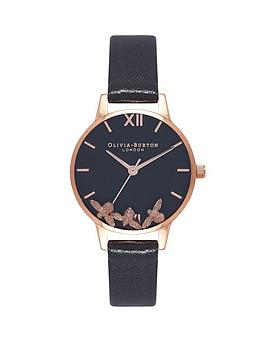 Olivia Burton Olivia Burton Olivia Burton Busy Bees Black And Rose Gold  ... Picture