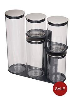 joseph-joseph-podium-100-collection-5-piece-storage-jar-set-with-stand