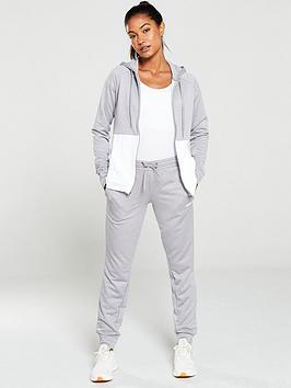 adidas-linear-hooded-tracksuitnbsp-greywhite