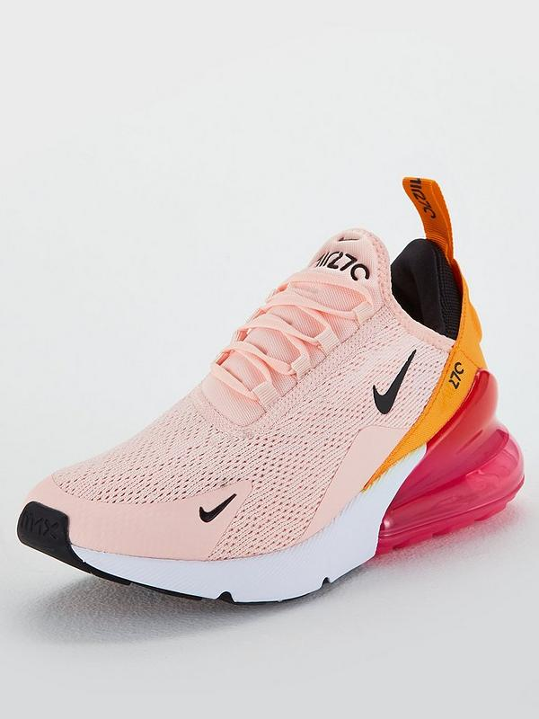 nike pink air max 270 trainers